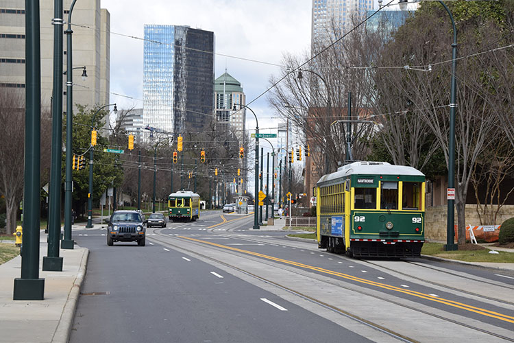 Charlotte Streetcar at Transportation Center