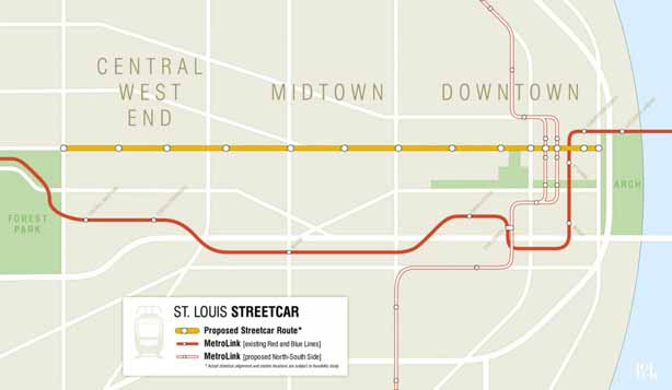 St. Louis Streetcar map