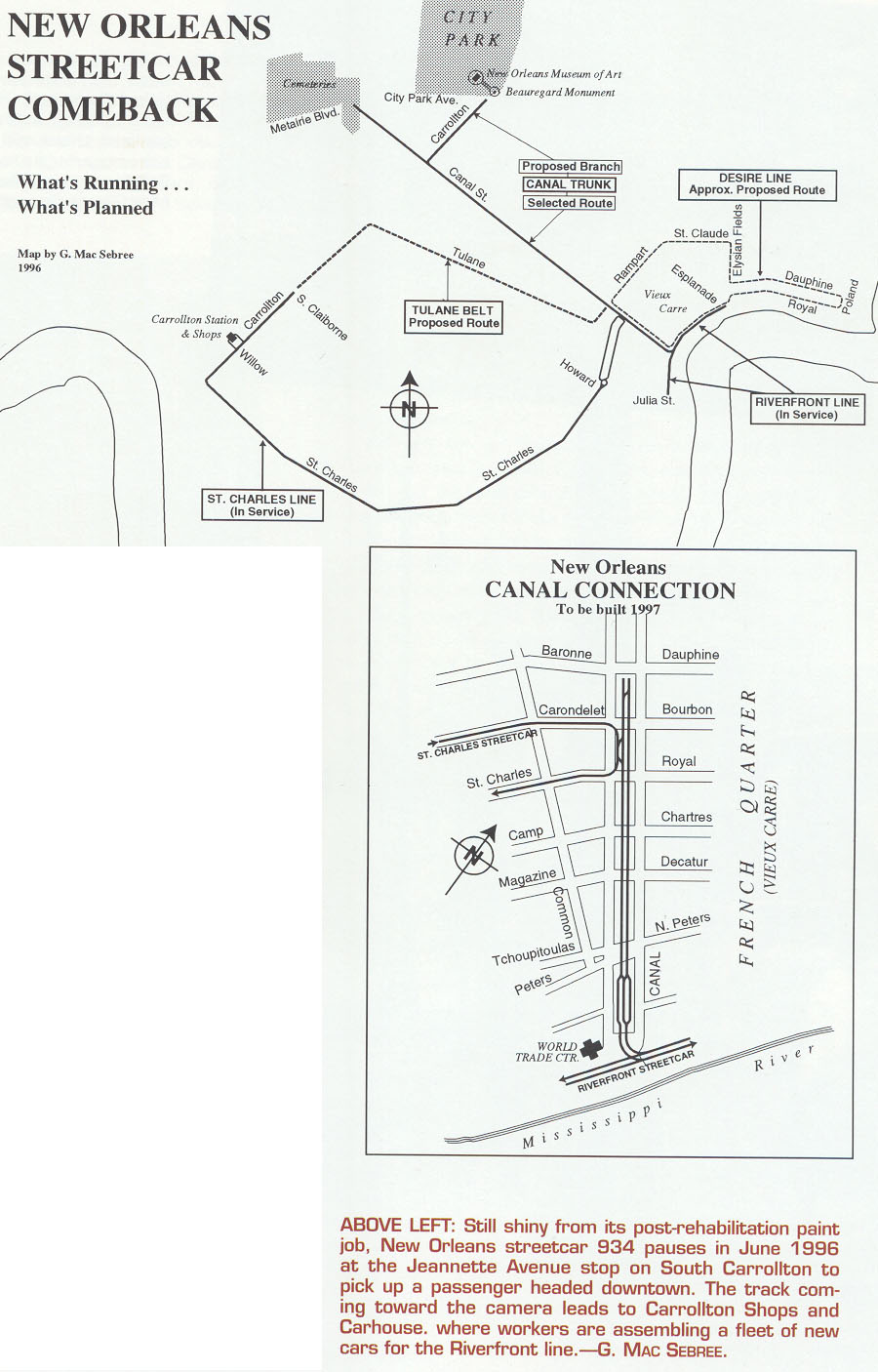 Streetcar In New Orleans Map.New Orleans Joys